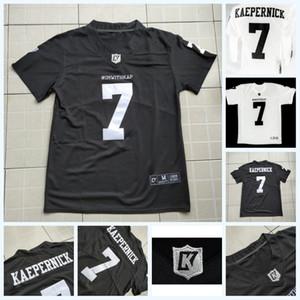 Imwithkap Movie Jersey 7 Colin Kaepernick Ich bin mit Wap American Football Jersey schwarz weiß Herren Damen Jugend doppelt genäht Name Nummer