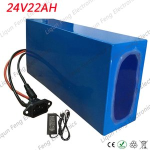 24V Battery 24V 22AH Electric Bike Battery 24V 22AH Lithium Battery with 30A BMS+29.4V 2A Charger for 250W 500W 750W 1000W Motor