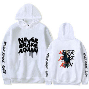 Mens Fashion Hoodies Never Broke Again Letter Printing Hooded Sweatshirt Women Tops Casual Hip Hop Pullover Hoodies