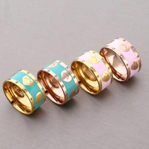 2020 novo estilo de anéis de casamento encanto presente de noivado partido anel de aço inoxidável moda jóias campeonato anéis casal moda pulseira