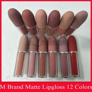 M marca Lip cosmetici Matte liquido Rossetto 12 colori Luster Lip Gloss impermeabile Lucidalabbra con l'alta qualità