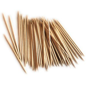 Natural Bamboo Toothpicks Double-headed Fine Toothpick Home Salad Stick Table Accessories