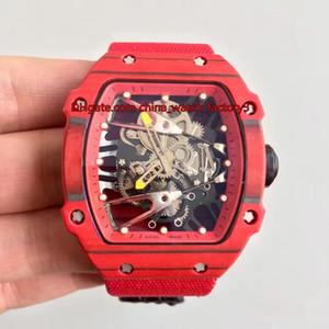 4 qualità di stile migliore Top Versione 39,7 millimetri x 47,7 millimetri RM27-02 RM 27-02 in fibra di carbonio Eta 2836 Movimento Meccanico di Mano-bobina di Mens Watch Watches