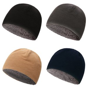 Men Women Unisex Winter Solid Color Soft Warm Watch Cap Polar Fleece Thickened Military Army Beanie Hat Windproof Outdoorve