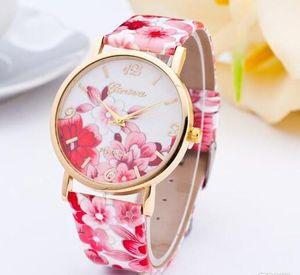Flower Design Watches Women's Fashion New Blossom Watch Ladies White Leather Belt Quartz-watch Clock for reloj mujer dress