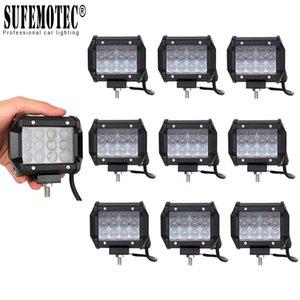 4D Lens 4 Inch 36W Led Offroad Pods luz de trabalho para carro 12V 24V 4x4 off-road SUV caminhão ATV Boat Tractor Spotlight Driving Trabalho Lâmpadas 10PCS