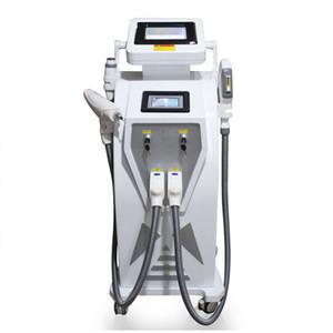 Двойной экран 4 in1 Многофункциональный OPT IPL Лазеротерапия оборудование для удаления татуировок сосудистый пигмент акне терапия с переключением д