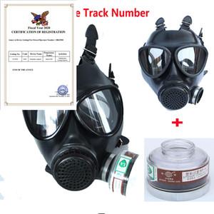 Nueva caliente pintura a pistola militar del ejército soviético Chemcial gas máscara de silicona de respiración con filtro de 40mm