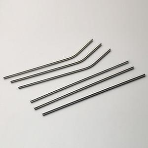 Canudos De Aço Inoxidável reutilizáveis Criativo Dobrado e Em Linha Reta De Metal Palha Bebendo Tumbler Partido Bar Beber Acessórios TTA742