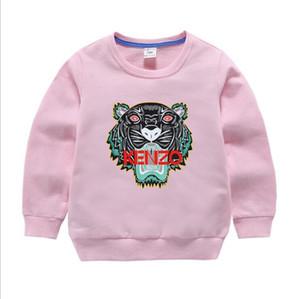 Bebek Giyim Çocuk Giyim 2019 Sonbahar Yeni Moda Çocuk Pamuk Nefis Kaplan Kafa Nakış Çocuklar Hoodies Sweatshirt Ceket