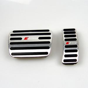 Sin Perforar aleación de aluminio de Audi rotura del pedal de gas relleno cubra para Audi A4 A5 A6 Q7 Q3 Q5 EN LHD Gas rotura Pedales