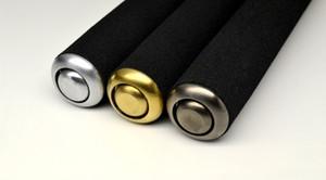 éponge bâton télescopique en trois parties en métal main percutant l'auto-défense télescopique confortable et pratique ne se plie pas usage de la voiture