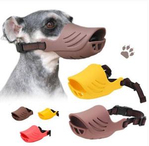 Livraison gratuite en gros Silicone Chien Anti-Bouche Canard Bouche Forme Chien Bouche Bouche Couverture Biteproof Pet Museau