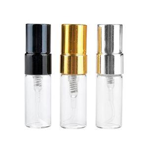 Atomizer Boş Parfüm Ücretsiz DHL Paketleme ile Parfüm Sprey Şişe 3ML Kağıt Kutular Cam Parfüm Şişesi