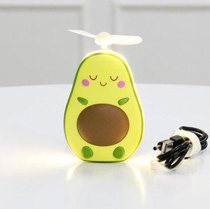 Авокадо Вентилятор Мультфильм Портативный аккумуляторная Mini USB детей Ручной Вентиляторы с зеркалом с подсветкой Party Favor OOA8011