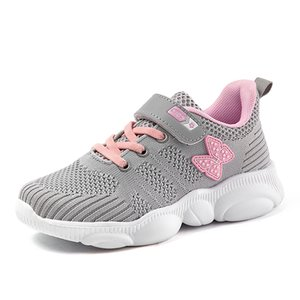 Kids Shoes Lightweight Girls Children Running Shoes Walk Child Sports Trainers Knit Mesh Casual Low-top