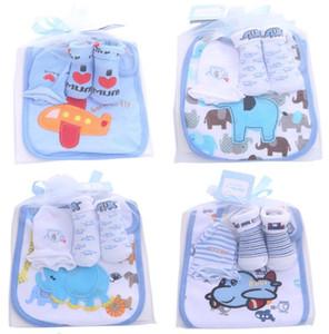 Algodón diseñador Baby Gift Newborn Outfits Baby Socks + guantes + baberos 3 piezas princesa recién nacido bebé niña ropa de diseño niños Ropa infantil