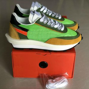 Wholeslae Sacai x LVD Waffle Daybreak Hommes et femmes Chaussures de course Low Top Sneakers Retro Couples Outdoor Sport Chaussures Taille 36-45