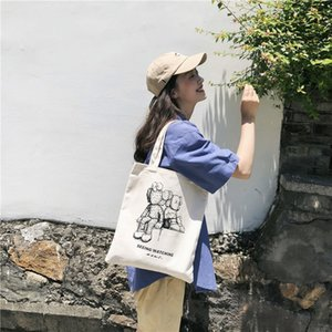 Art2019 Street Sesame 2019 Jointly Kaws Thickness Canvas Bag Support Special Tide Brand Paquete de hombro único para mujer