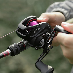 Мультипликаторы Reel 7,2: 1 12 + 1BB Bass Fishing Reel 8KG Max Drag Left Right Hand Reel Reinforced Nylon тела Белый Bass Fishing колесо