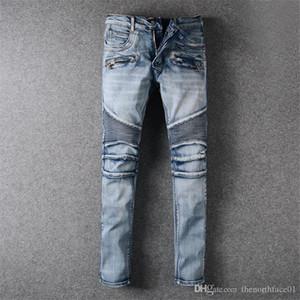 ممزق بالمن جينز رجالي المتعثرة السائق جينز صالح سليم للدراجات النارية السائق الدينيم للرجال العلامة التجارية مصمم الهيب هوب الرجال السراويل