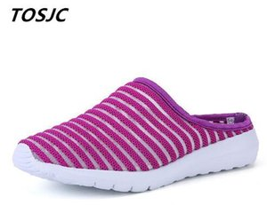 TOSJC New Style Woman Light Weight Slippers Anti-Slip Casual Shoes Lady Shoes Pink Color Summer Footwear 9 Y200706