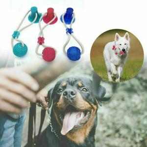 Pet Selbstspielende Gummikugel-Spielzeug mit Saugnapf Multifunktions-Haustier-Welpen Molar Biss Spielzeug Haustier Hund Spielzeug Interactive Molar-Kauen-Spielzeug