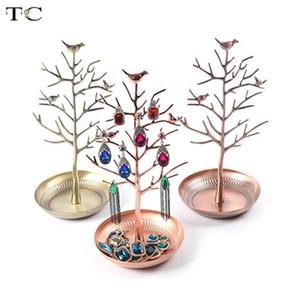 Rasalhaguer Hot Sale Jóias carrinho de exposição da cremalheira do pássaro da árvore suporte de ferro Colar Brinco Titular Pulseira Moda Organizer