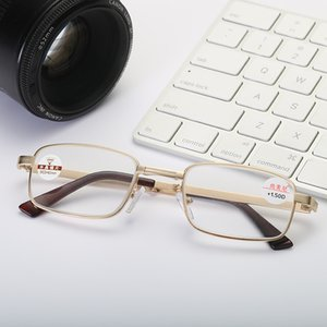 Factory Price Natural Folding Reading Glasses Middle-aged Glasses Metal Frame +1.0 +1.5 +2.0 +2.5 +3.0 +3.5 +4.0 Women Men Eyewear Y0903