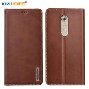 wholesale for ZTE AXON 7 A2017 KEZiHOME Luxury Genuine Leather Flip wallet Cover for ZTE Axon 7 mini Phone cases