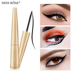MISS ROSE Schwarz Liquid Eyeliner Bleistift Makeup Wasserdicht Langlebige Anti-Blooming Accurate Draw Eye Liner Pen Makeup 07402-017H