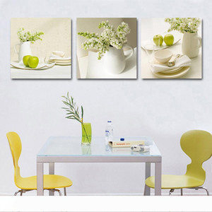 3 Pcs Fruit Kitchen Pictures Abstract beautiful oil painting home wall art cheap Modular Pictures Wall Pictures For Living Room Y18102209