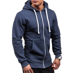 Spring Fall Male Cardigan Full Zip Hoodie Long Sleeve Hooded Sweatshirt Tech Fleece Plus Size Coat Jacket Warm Jumper Outwear