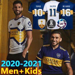 2020 2021 بوكا جونيورز لكرة القدم Jersey Home Away 20 21 بوكا جونيورز GAGO OSVALDO CARLITOS PEREZ DE ROSSI TEVEZ PAVON JRS sports shirt shirt