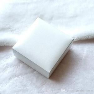 Bijoux blanc d'origine Boîtes d'emballage avec coussin noir pour Pandora Bracelet Bracelets Colliers Boucles d'oreilles affichage Boîte à bijoux