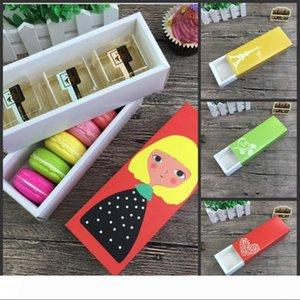 Chriatmas Macaron Box Natale Cupcake Hollow contenitori di carta Cake Boxes San Valentino al cioccolato Confezione Souvenir pacchetto Biscuit Box