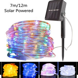7m 12m Holiday Lighting String 50 100 Led Fairy Light Outdoor Solar Lamp LED Garland Party Christmas Light Decoration Waterproof Y200603
