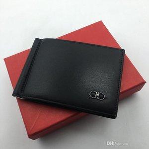 100% cuir Carte Slim Mens Véritable crédit Wallet ID Money Clip Card Case Conception simple bruni Edges 2019 Nouveau Luxe Hommes Portefeuilles Bifold