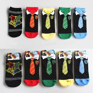Harry Potter Magic Socks Couples Cotton socks Cartoon Art Cosplay Tie Stocking Fashion Sport Short sock Unisex Low Stockings BJY927