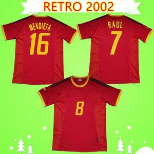 #7 Raul retro Spain soccer jersey 2002 2003 classic football shirt vintage Camisa de futebol 02 03 Morientes Pedro Baraja Joaquin Puyol