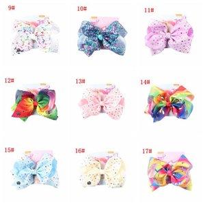 Clipe crianças bowknot Grampos de cabelo Hairpin Moda Unicórnio meninas cabelo colorido Grande Bow Tie Headwear Crianças bowknot Barrette Hairpin DBC VF1642