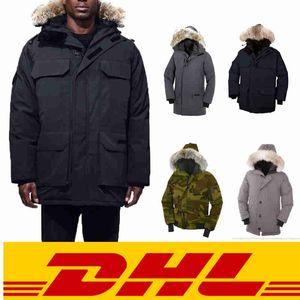 Top qualità della moda caldo giù ricoprono con il 100% vero lupo mastio pelliccia calda in fabbrica cappotto invernale in Cina vernice trasparente