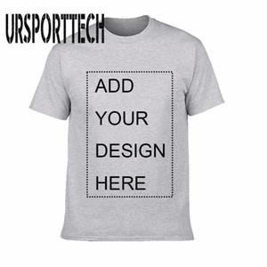 Ursporttech personalizada camiseta de los hombres Imprimir su propio diseño de alta calidad de algodón transpirable camiseta para los hombres más el tamaño Xs-3xl MX190710