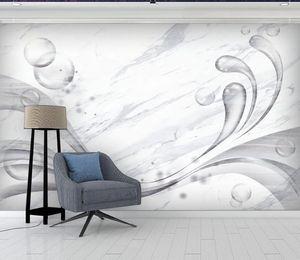 Custom 3D wall mural Marbling Photo Wall Murals Living Room TV Sofa stereoscope wallpaper for walls 3 d Background wall