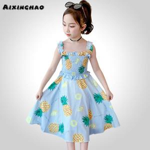Kids Dresses For Girls Print Girl Party Dress Summer Children Ruffles Dress Sleeveless Costume For Girls 6 8 10 12 14