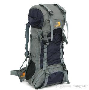 Açık Çanta erkekler ve kadınlar özel 60L açık omuz su geçirmez Oxford dağcılık çantası yürüyüş sırt çantası