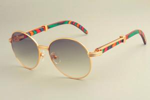 ترف-- 2019 19900692 النظارات الشمسية الساخنة جولة الإطار النظارات الشمسية ، أزياء الرجعية حاجب الشمس ، اللون الطبيعي المعبد النظارات الشمسية