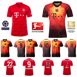 2019 رجال كرة القدم بايرن ميونيخ 9 LEWANDOWSKI Jersey Home 22 GNABRY 10 ROBBEN 11 JAMES 25 MULLER 32 KIMMICH Football Shirt Kits Uniform