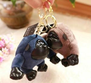 Творческий плюшевые гориллы брелок шимпанзе кукла брелок автомобиля пара кукла рюкзак кулон модные аксессуары