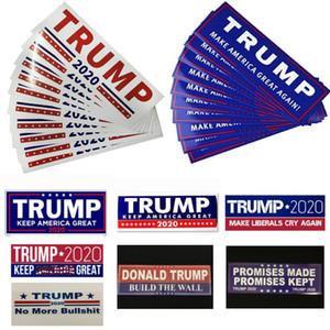 10pcs / set Donald Trump 2020 etiquetas engomadas del coche pegatina para el parachoques Mantenga hacer de Estados Unidos Gran calcomanía para Car Styling Vehículo parche 7.6 * 22.9cm HH9-2156